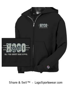 Champion Youth 50/50 Heavyweight Full-Zip Hooded Sweatshirt Design Zoom